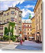 Historic Street Of Innsbruck View Metal Print