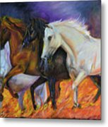 4 Horses Of The Apocalypse Metal Print