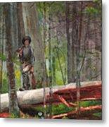 Hunter In The Adirondacks Metal Print