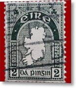 Irish Postage Stamp Metal Print