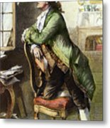 Johann Goethe, 1749-1832 Metal Print