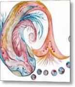 Koi Fish-watercolor Metal Print