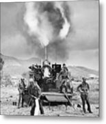 Korean War: Artillery Metal Print