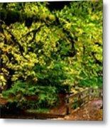Landscape Acrylic Painting Metal Print