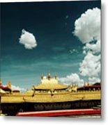 Lhasa Jokhang Temple Fragment Tibet Artmif.lv Metal Print