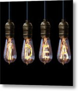 Light Bulb Background Metal Print
