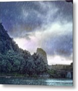 Lijiang River Boat Tour In The Rain-arttopan-china Guilin Scenery Metal Print