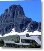 Lodge In Glacier National Park Metal Print