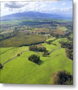 Maui Aerial Metal Print