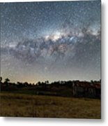 Milky Way Over A Farm Shed Metal Print