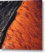 Molten Pahoehoe Lava Metal Print