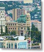 Monte Carlo Cityscape Metal Print