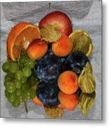 Multicolor Fruits Metal Print