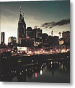 Nashville At Dusk Metal Print