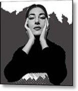 Opera Singer Maria Callas No Date-2010 Metal Print