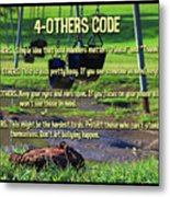 4-others Code Metal Print