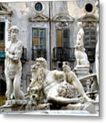 Palermo Fountain Metal Print