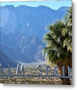Palm Springs Welcome Metal Print