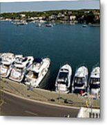 panoramic town 1 - Panorama of Port Mahon Menorca Metal Print