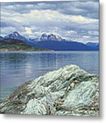Panoramic View Of Ushuaia, Tierra Del Metal Print