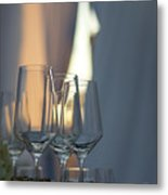 Party Setting With Bokeh Background Metal Print