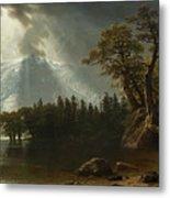 Passing Storm Over The Sierra Nevadas Metal Print
