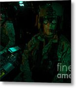 Pilots Equipped With Night Vision Metal Print