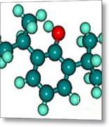 Propofol Diprivan Molecular Model Metal Print