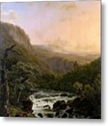 River In The Ardennes At Sunset Metal Print