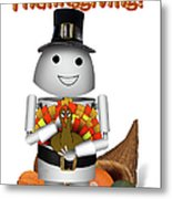Robo-x9 The Pilgrim Metal Print