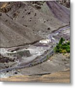 Rocky Landscape Of Leh City Ladakh Jammu And Kashmir India Metal Print