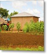 Rural Landscape In Tanzania Metal Print