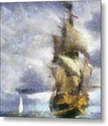 Ships Ahoy Metal Print