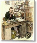 Sir Arthur Conan Doyle Metal Print