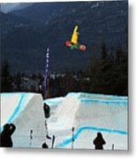 Snowboarder At The Telus Snowboard Festival Whistler 2010 Metal Print