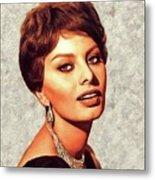 Sophia Loren, Vintage Movie Star Metal Print
