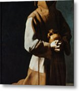 St Francis Of Assisi Metal Print by Granger