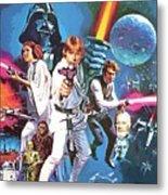 Star Wars A Poster Metal Print