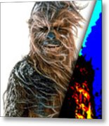 Star Wars Chewbacca Collection Metal Print