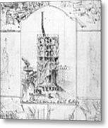 Statue Of Liberty, Paris Metal Print