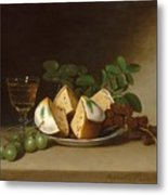 Still Life With Cake Metal Print