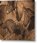 Stone-age Cave Paintings, Chauvet, France Metal Print