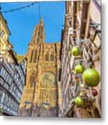 Strasbourg,christmas Market, Alsace France  Metal Print