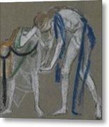 Study Of Two Dancers Metal Print