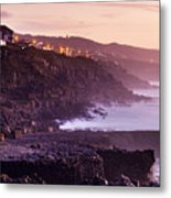Sunset In The Portuguese Coast Metal Print