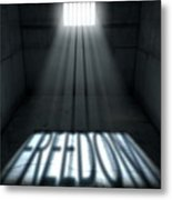 Sunshine Shining In Prison Cell Window Metal Print