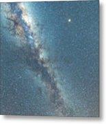 The Milky Way And Mars Metal Print