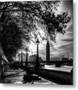The River Thames Path Metal Print