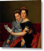The Sisters Zenaide And Charlotte Bonaparte Metal Print