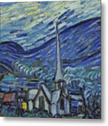 The Starry Night Metal Print by Vincent Van Gogh